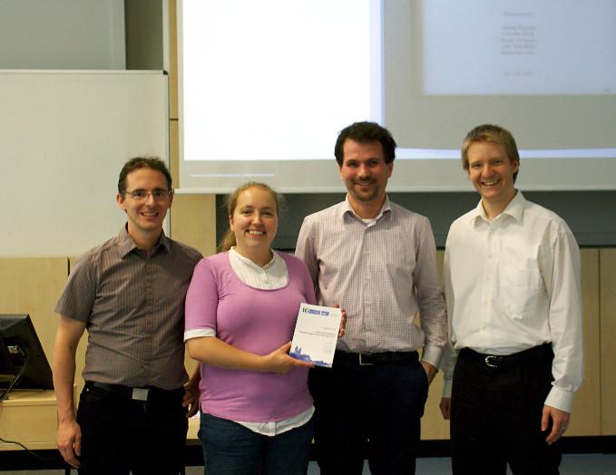 Organisationsteam (Jun.-Prof. Dr. Frank Ortmeier, Dr. Claudia Krull, Dr. Sebastian Zug, Dr. Georg Krempl, Dr. Eike Schallehn (nicht im Foto)(Photo: Pawel Matuszyk)
